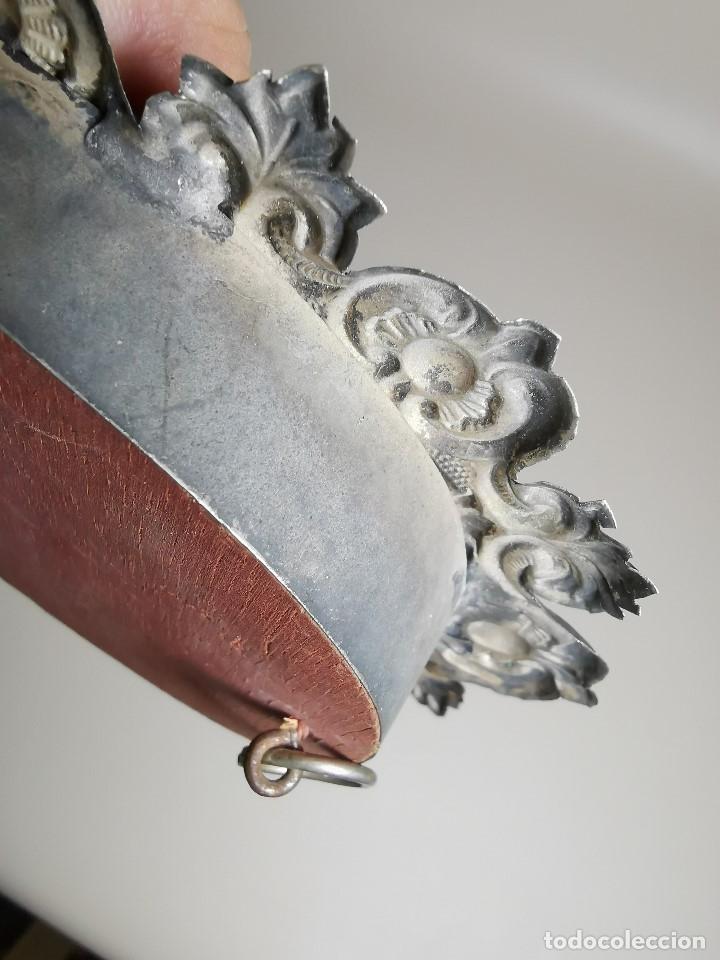 Antigüedades: RELICARIO CUSTODIO DEVOCIONAL DE LA VIRGEN DEL ROCIO-PLATA DE LEY 925 CAPILLA - Foto 12 - 179195870