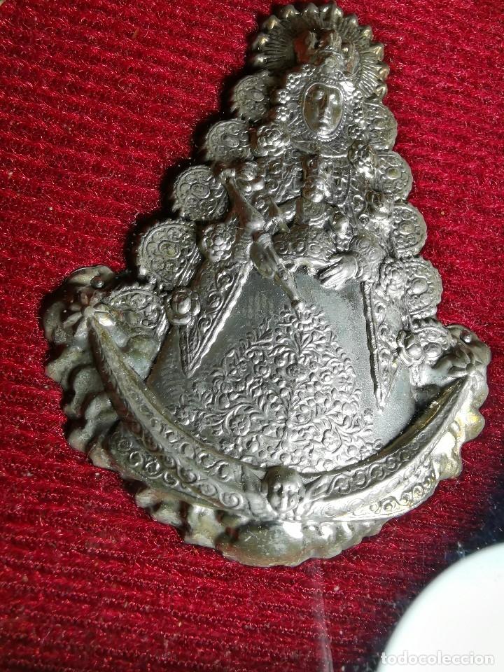 Antigüedades: RELICARIO CUSTODIO DEVOCIONAL DE LA VIRGEN DEL ROCIO-PLATA DE LEY 925 CAPILLA - Foto 25 - 179195870
