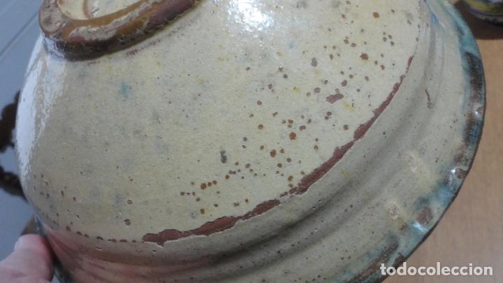 Antigüedades: ANTIGUO CUENCO LEBRILLO CERAMICA ALFARERIA ALMERIA NIJAR? SIGLO XX - Foto 8 - 179197813