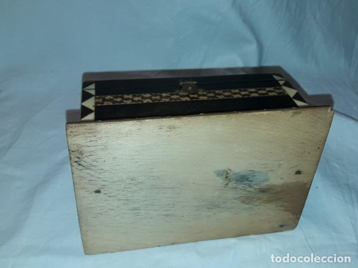 Antigüedades: Bella antigua caja madera marquetería taracea de Granada - Foto 8 - 179203428
