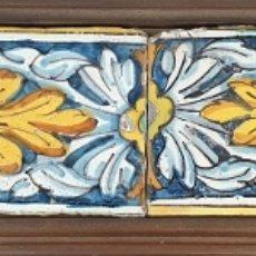 Antigüedades: COMPOSICIÓN DE 6 AZULEJOS BARROCOS. CERÁMICA CATALANA. PINTADOS A MANO. SIGLO XVIII. . Lote 179216778