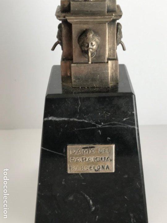 Antigüedades: DAMA DEL PARAGUAS PARAIGUA DE BARCELONA PLATA DE LEY.CONTRASTES. - Foto 3 - 179222167