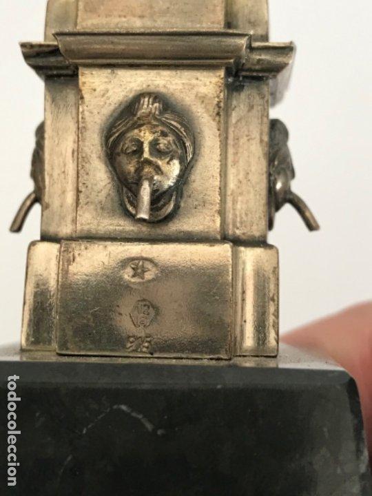 Antigüedades: DAMA DEL PARAGUAS PARAIGUA DE BARCELONA PLATA DE LEY.CONTRASTES. - Foto 6 - 179222167
