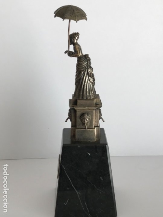 Antigüedades: DAMA DEL PARAGUAS PARAIGUA DE BARCELONA PLATA DE LEY.CONTRASTES. - Foto 7 - 179222167