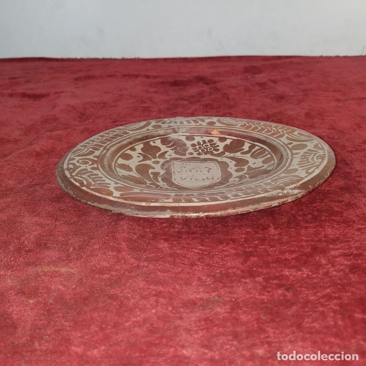 Antigüedades: PLATO GÓTICO. CERÁMICA DE REFLEJOS METÁLICOS. MANISES. ESPAÑA. XVI-XVII - Foto 8 - 179228035