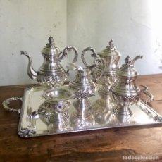 Antigüedades: JUEGO DE CAFÉ EN PLATA DE LEY 925, 3,5 KILOS DE PESO. Lote 179228558