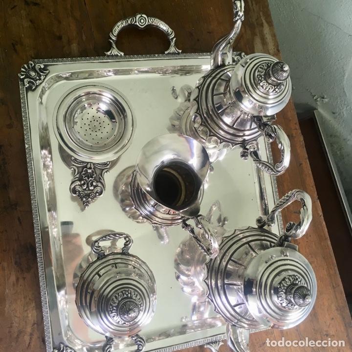Antigüedades: Juego de café en plata de ley 925, 3,5 kilos de peso - Foto 2 - 179228558