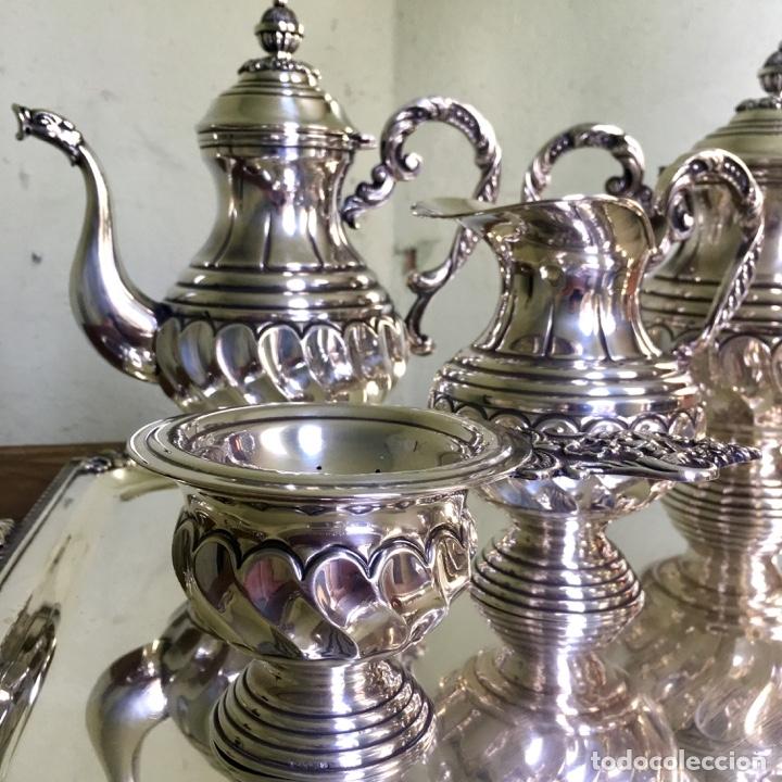 Antigüedades: Juego de café en plata de ley 925, 3,5 kilos de peso - Foto 3 - 179228558