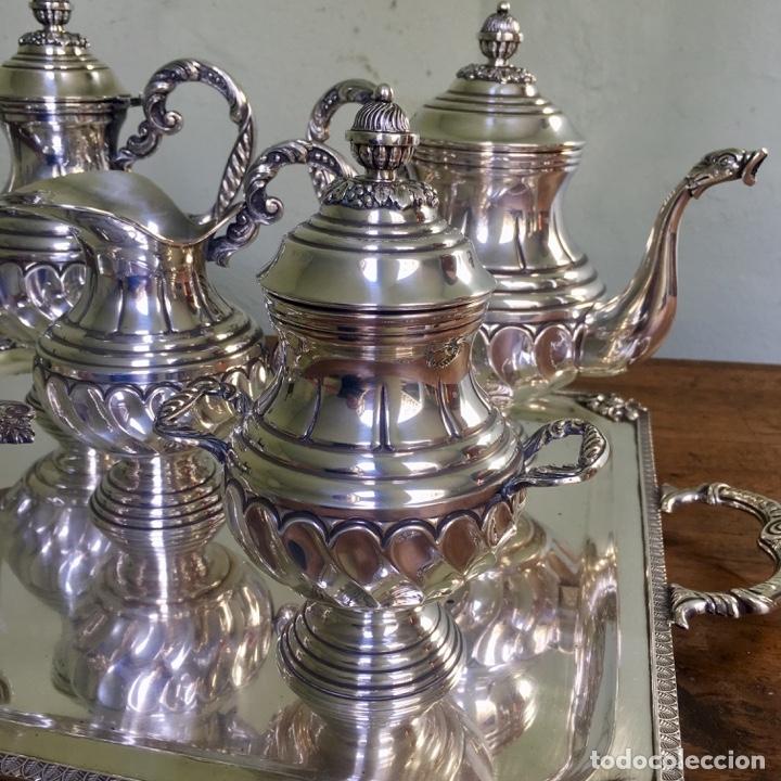 Antigüedades: Juego de café en plata de ley 925, 3,5 kilos de peso - Foto 4 - 179228558
