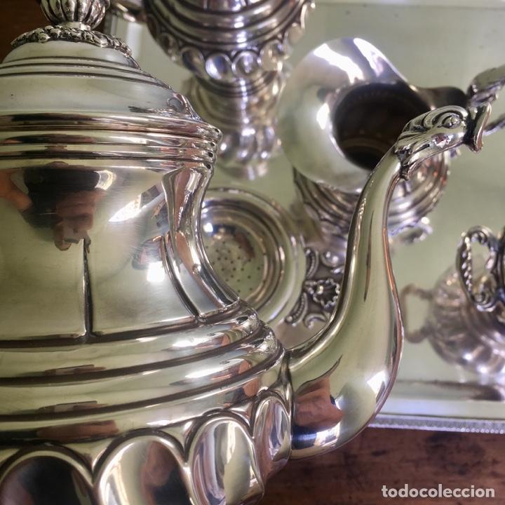 Antigüedades: Juego de café en plata de ley 925, 3,5 kilos de peso - Foto 6 - 179228558