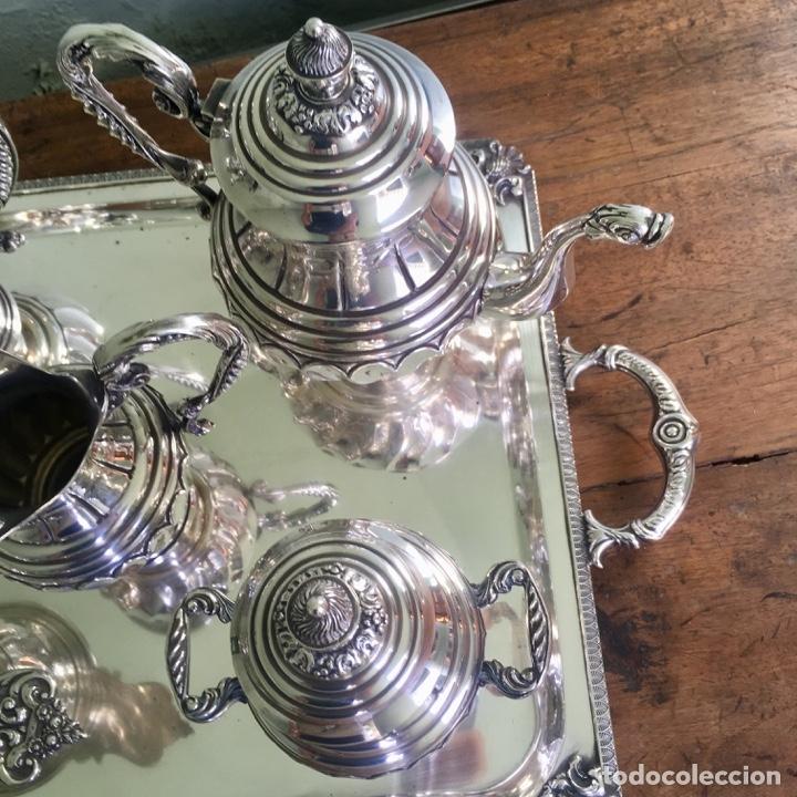 Antigüedades: Juego de café en plata de ley 925, 3,5 kilos de peso - Foto 7 - 179228558