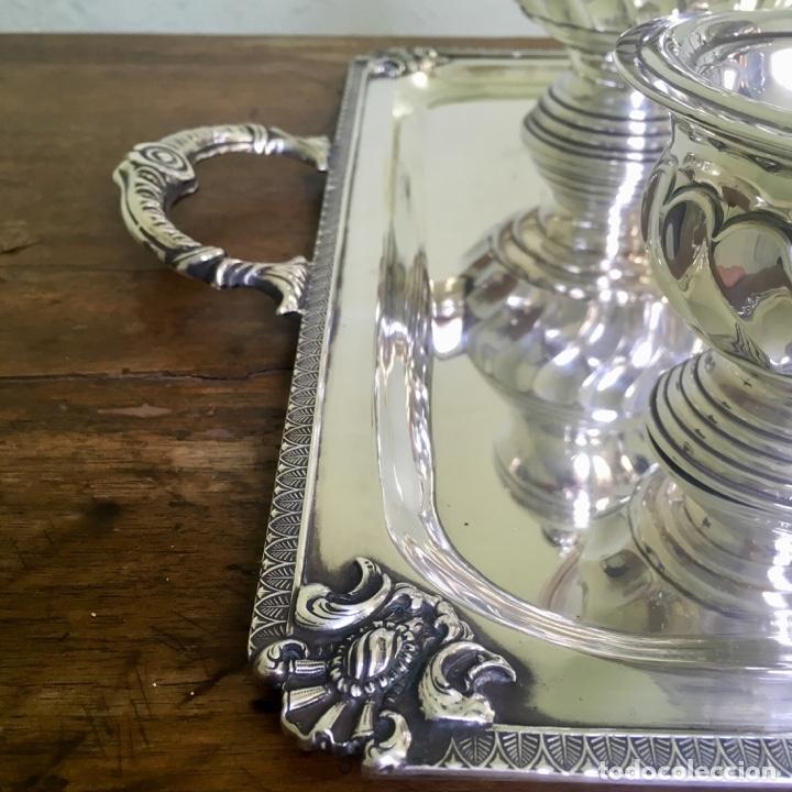 Antigüedades: Juego de café en plata de ley 925, 3,5 kilos de peso - Foto 8 - 179228558