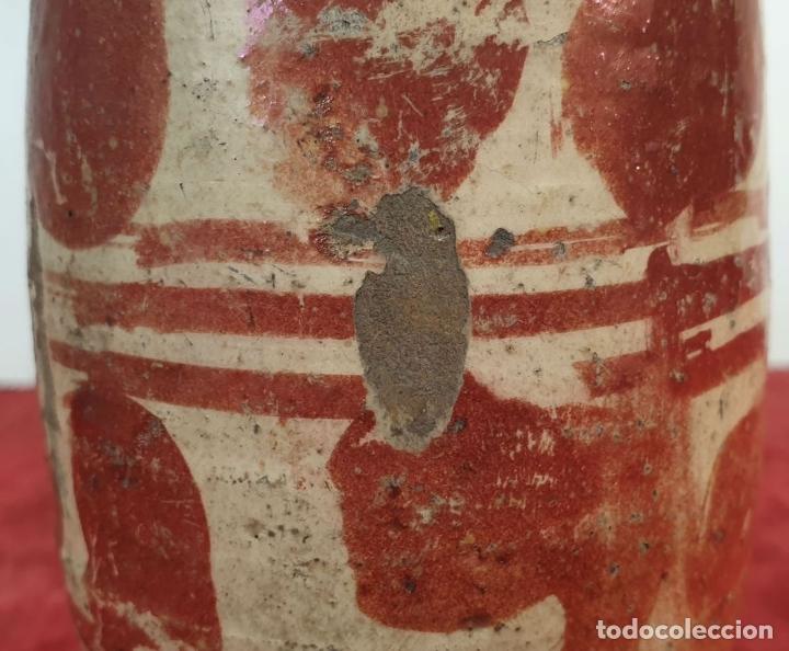 Antigüedades: MIELERO DE CERÁMICA ESMALTADA Y DECORADA CON REFLEJOS. MANISES. SIGLO XVII-XVIII. - Foto 6 - 179228593