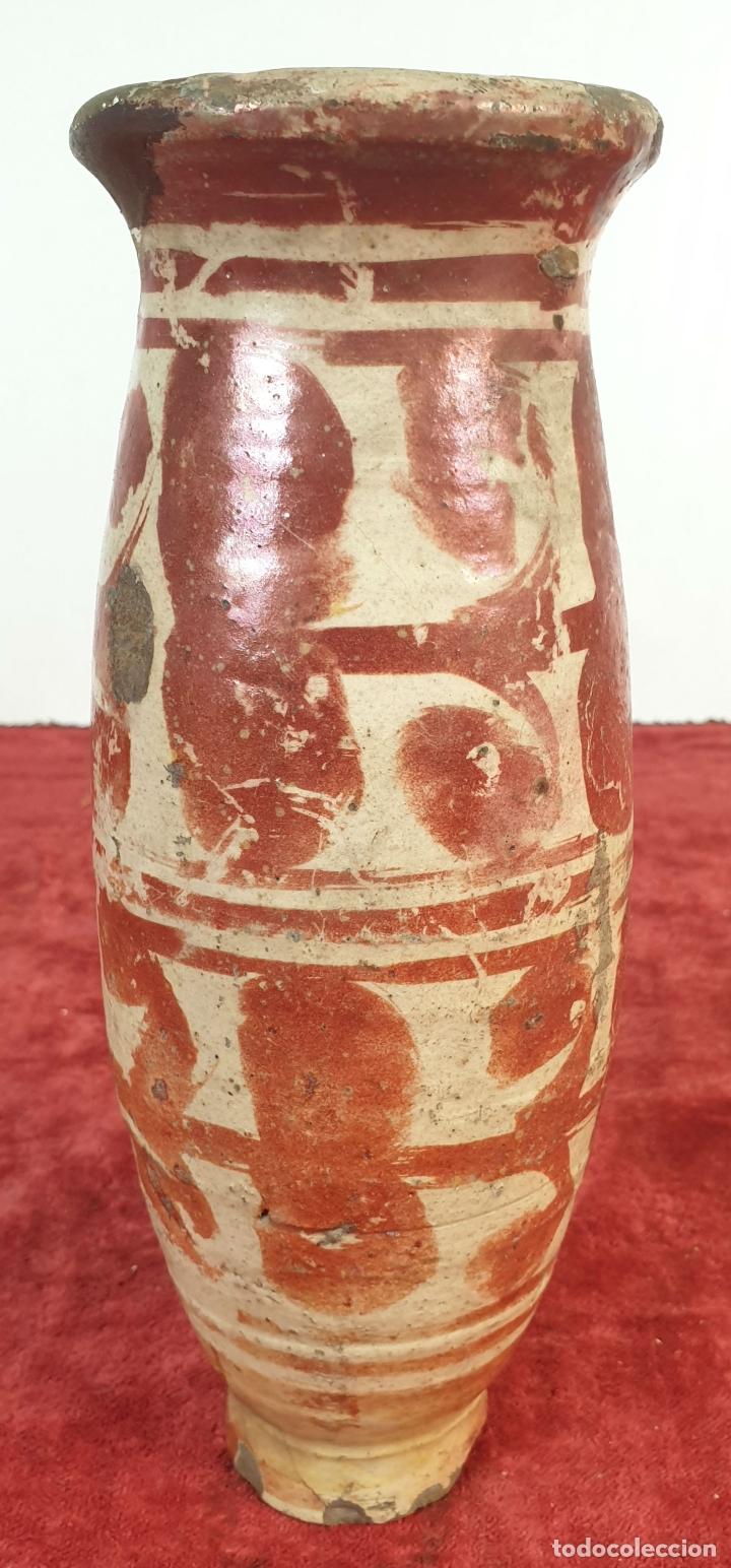 MIELERO DE CERÁMICA ESMALTADA Y DECORADA CON REFLEJOS. MANISES. SIGLO XVII-XVIII. (Antigüedades - Porcelanas y Cerámicas - Manises)