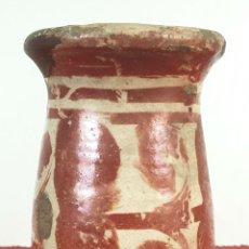 Antigüedades: MIELERO DE CERÁMICA ESMALTADA Y DECORADA CON REFLEJOS. MANISES. SIGLO XVII-XVIII.. Lote 179228593