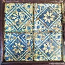 Antigüedades: CONJUNTO DE AZULEJOS GÓTICOS. CERÁMICA ESMALTADA. CATALUNYA. ESPAÑA. SIGLOS XV-XVI. Lote 179229325