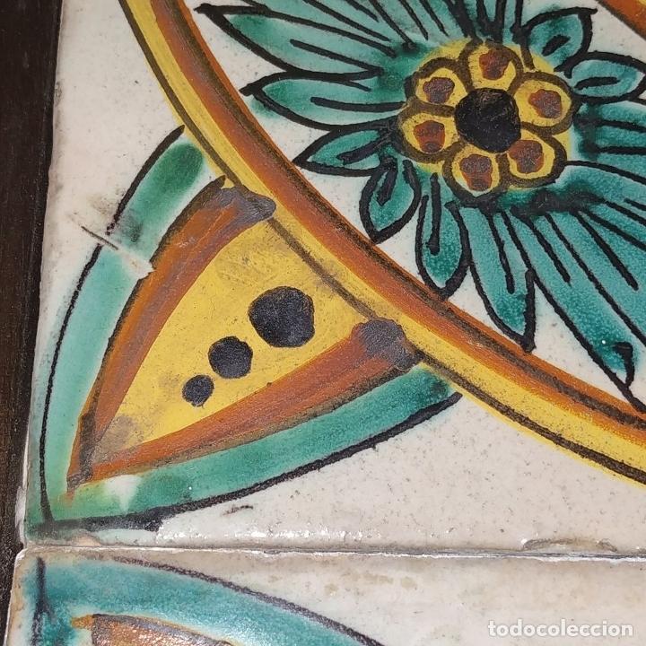 Antigüedades: AZULEJOS BARROCOS. CERÁMICA ESMALTADA. HOSPITAL DE LA SANTA CREU. BARCELONA. ESPAÑA. XVII-XVIII - Foto 4 - 179230797