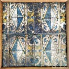 Antigüedades: AZULEJOS RENACENTISTAS. CERÁMICA. PALACIO EPISCOPAL. BARCELONA. ESPAÑA. CIRCA 1505. Lote 179231971