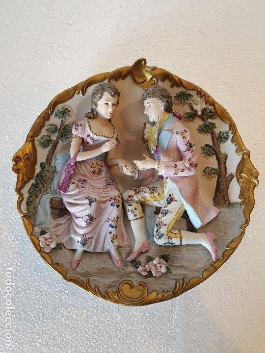 Antigüedades: PLATO RELIEVE CERAMICA JAPON - Foto 2 - 179238681