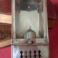 Antigüedades: LINTERNA DE VELA ANTIGUA. Lote 179242605