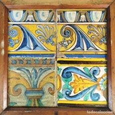 Antigüedades: AZULEJOS BARROCOS. CERÁMICA ESMALTADA. CATALUNYA. ESPAÑA. SIGLO. XVII-XVIII. Lote 179243717