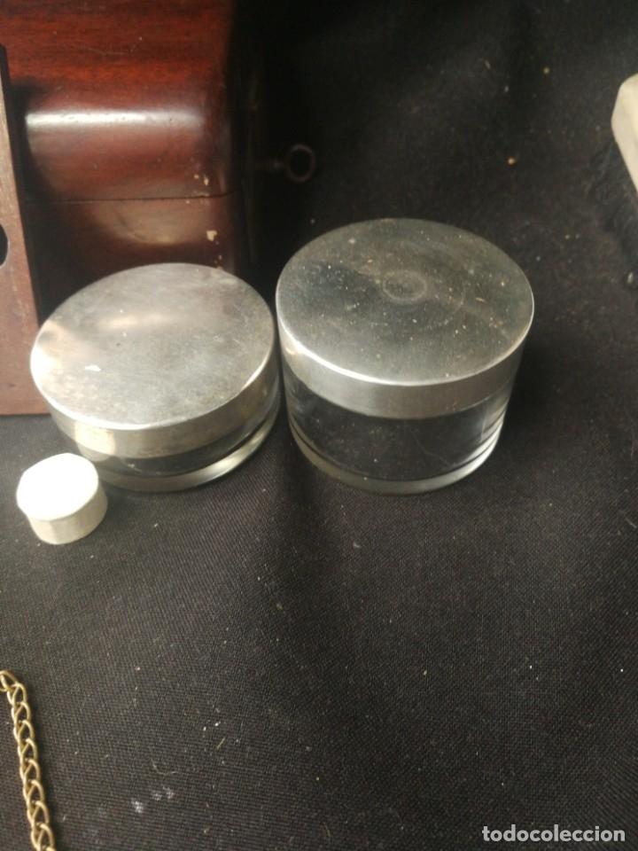 Antigüedades: Caja-tocador victoriano de viaje francés piezas en hueso - Foto 8 - 195064008