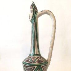Antigüedades: JARRÓN ANTIGUO EN CERÁMICA DE TERUEL - PUNTER 58. Lote 179246113