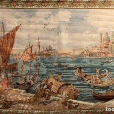Antigüedades: ELEGANTE TAPIZ DE FABRICACION MECANICA DE APROXIMADAMENTE MEDIADOS DEL SIGLO XX. 160 X 260 CM.. Lote 179249500