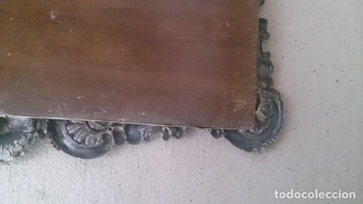Antigüedades: Cartel (Frase de bienvenida a casa) 35x25ctms plata 925 y cristal (portugués) - Foto 3 - 179252960