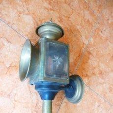Antigüedades: ANTIGUO APLIQUE DE PARED DE METAL Y VIDRIO. Lote 179253021