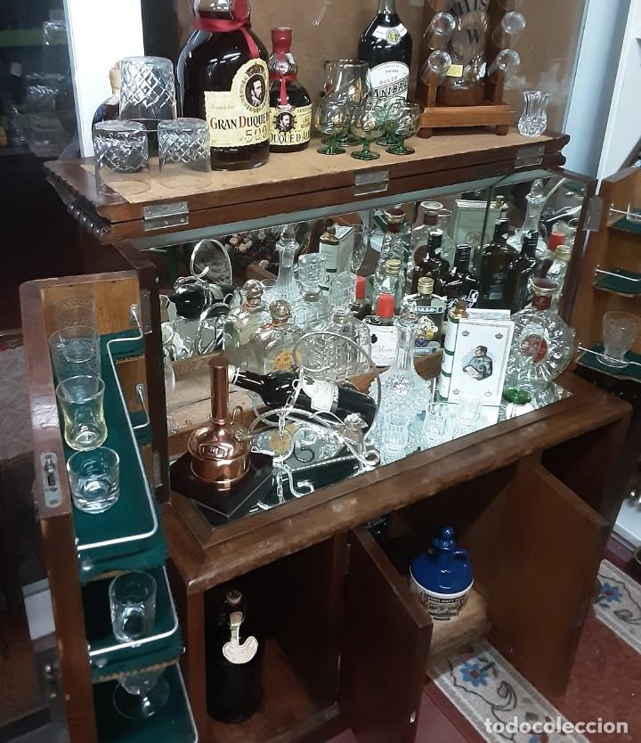 Antigüedades: Mueble bar. Años 40. Madera maciza. Maravilloso mueble para su salón o bodega. - Foto 6 - 179277490