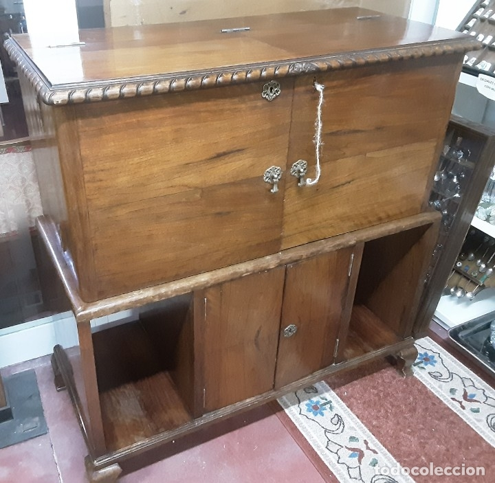 Antigüedades: Mueble bar. Años 40. Madera maciza. Maravilloso mueble para su salón o bodega. - Foto 9 - 179277490