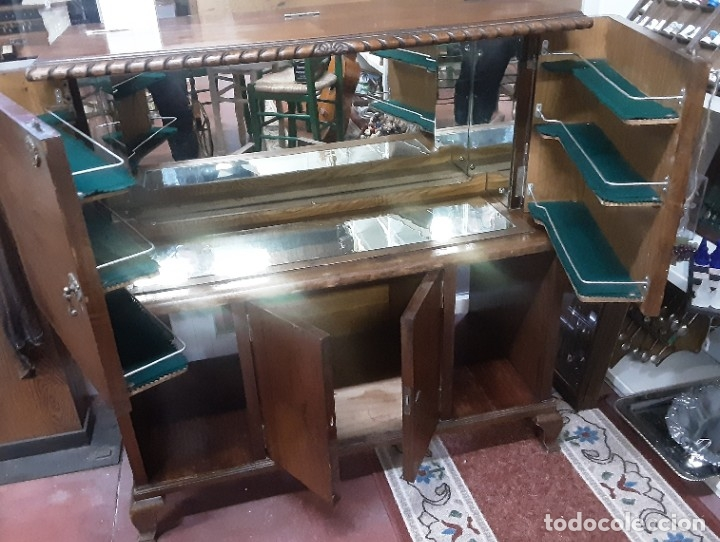 Antigüedades: Mueble bar. Años 40. Madera maciza. Maravilloso mueble para su salón o bodega. - Foto 18 - 179277490