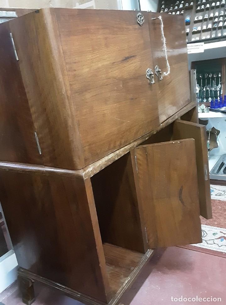 Antigüedades: Mueble bar. Años 40. Madera maciza. Maravilloso mueble para su salón o bodega. - Foto 23 - 179277490