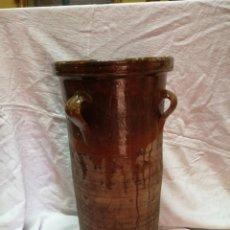 Antigüedades: ANTIGUA QUESERA BARRO VIDRIADO. Lote 179315636
