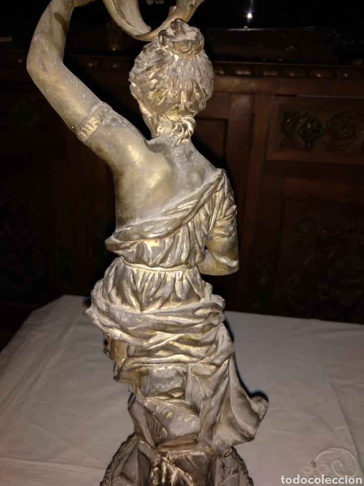 Antigüedades: Candelabro bronce , 3kgrm 51cm x 20cm de base - Foto 8 - 179317176