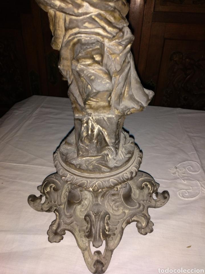 Antigüedades: Candelabro bronce , 3kgrm 51cm x 20cm de base - Foto 9 - 179317176