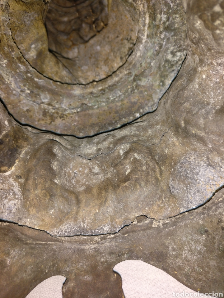 Antigüedades: Candelabro bronce , 3kgrm 51cm x 20cm de base - Foto 23 - 179317176