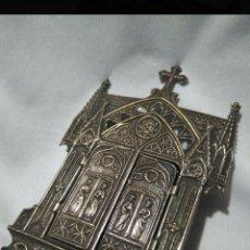 Antigüedades: RELICARIO DE PLATA.. Lote 179325752