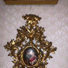 Antigüedades: PILA ITALIANA CON MARCO FLORENTINO SIGLO XIX. Lote 179328838