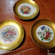 Oggetti Antichi: TRES PLATITOS PRINTED IN HOLLAND PORCELANA. Lote 179332287