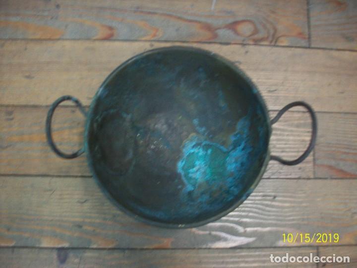 ANTIGUA PEROLA-PEROL DE COBRE (Antigüedades - Técnicas - Rústicas - Utensilios del Hogar)