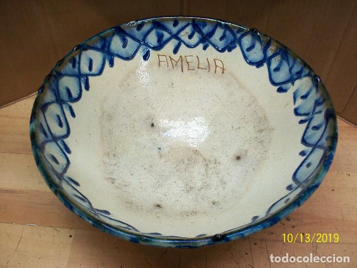Antigüedades: ANTIGUA FUENTE O LEBRILLO Y JARRA DE CERAMICA GRANADINA-PONE AMELIA - Foto 5 - 179114107