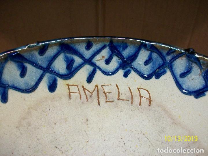 Antigüedades: ANTIGUA FUENTE O LEBRILLO Y JARRA DE CERAMICA GRANADINA-PONE AMELIA - Foto 6 - 179114107