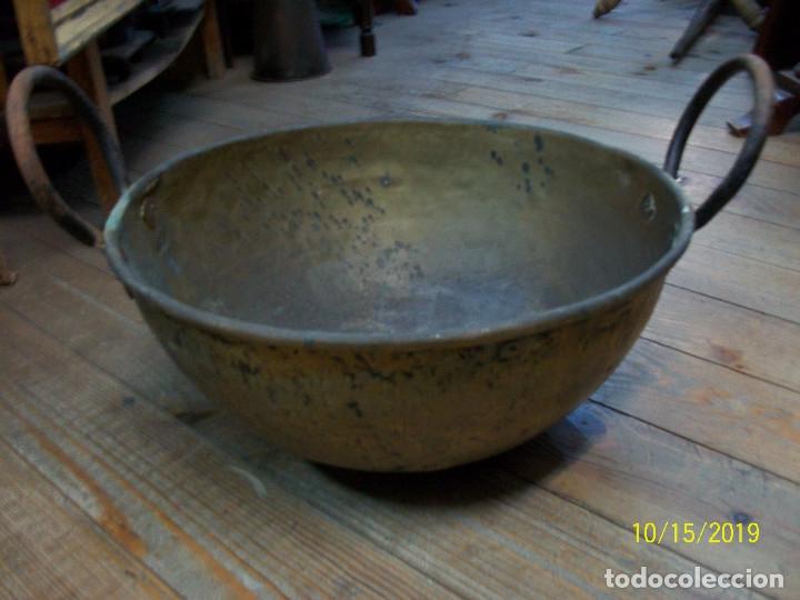 Antigüedades: ANTIGUA PEROLA-PEROL DE COBRE - Foto 3 - 179333838