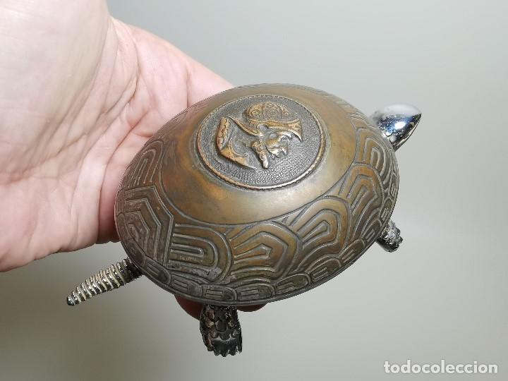 Antigüedades: ANTIGUO TIMBRE TORTUGA sobremesa despacho recepcion....MARCA BOJ.(EIBAR) A CUERDA - Foto 22 - 179334916