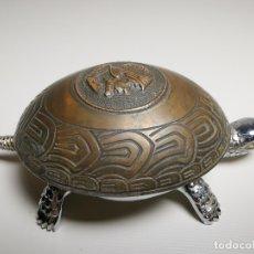 Antigüedades: ANTIGUO TIMBRE TORTUGA SOBREMESA DESPACHO RECEPCION....MARCA BOJ.(EIBAR) A CUERDA. Lote 179334916