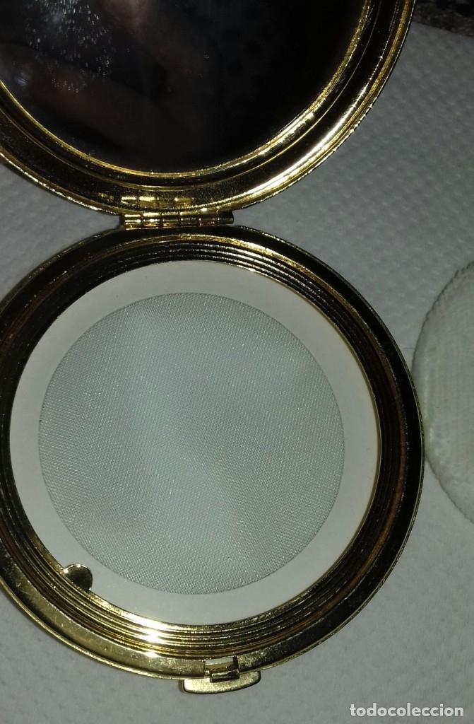 Antigüedades: Antigua Polvera Damasquinada - Foto 3 - 179339307
