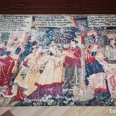 Antigüedades: ESPECTACULAR TAPIZ DE PARED PARA SALÓN 1,72X1,41. Lote 179345440
