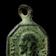 Antigüedades: MEDALLA RELIGIOSA SIGLOS XVI-XVII, 19X13 MM.. Lote 179377955